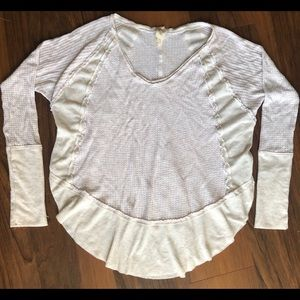 We the Free Loose Fit Waffle Knit Long Sleeve Top